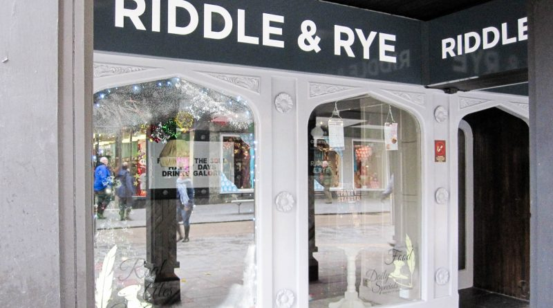 Riddle and Rye - Exeter